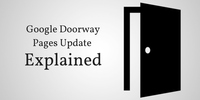 Google Doorway Page Update Coming-  Where are you?
